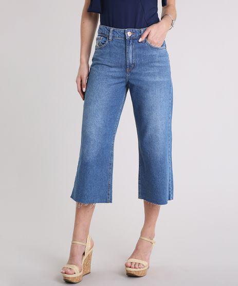 Calca-Jeans-Pantacourt-Feminina-com-Barra-Desfiada-Azul-Escuro-9217839-Azul_Escuro_1