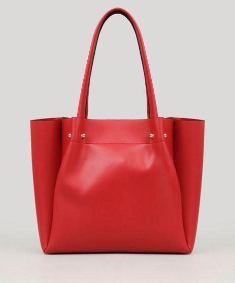 Bolsa-Feminina-Shopper-com-Piercings-Vermelha-9108100-Vermelho_1