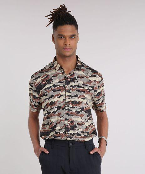 Camisa-Masculina-Estampada-Camuflada-Manga-Curta-Preta-9186041-Preto_1
