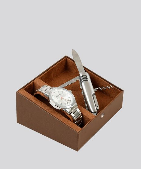 Kit-de-Relogio-Analogico-Mondaine-Masculino---Canivete---83451G0MVNE2K-Prateado-9252088-Prateado_1