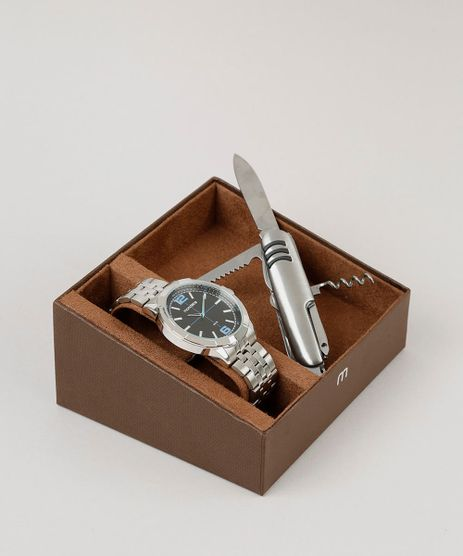Kit-de-Relogio-Analogico-Mondaine-Masculino---Canivete---99362G0MVNE2K-Prateado-9252100-Prateado_1