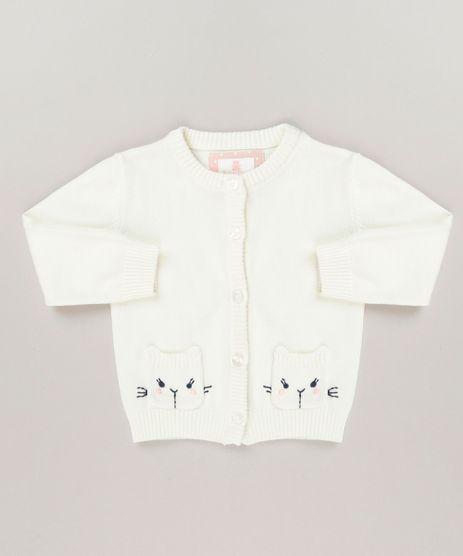 Cardigan-Infantil-com-Bordado-e-Bolsos-em-Algodao---Sustentavel-Off-White-9117944-Off_White_1
