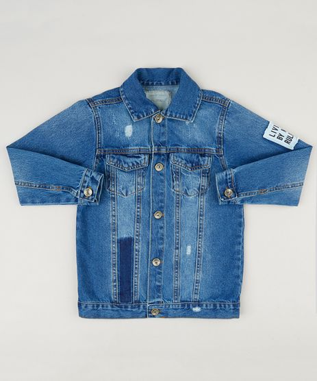 Jaqueta-Jeans-Infantil-com-Bolsos-e-Puidos-Azul-Escuro-9235741-Azul_Escuro_1