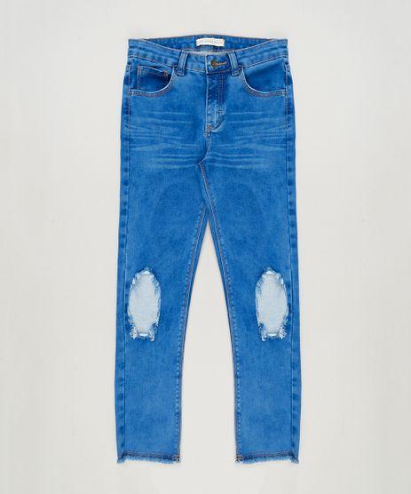 Calca-Jeans-Infantil-com-Rasgos-Azul-Medio-9169056-Azul_Medio_1