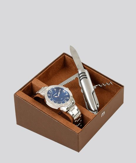Kit-de-Relogio-Analogico-Mondaine-Masculino---Canivete---99361G0MVNE2K-Prateado-9252052-Prateado_1