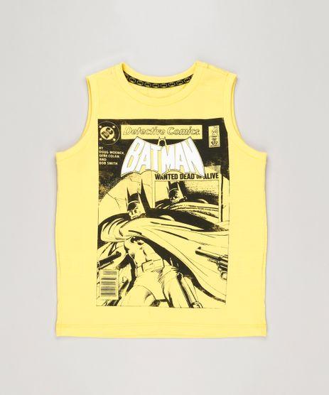 Regata-Infantil-Batman-Gola-Careca-em-Algodao---Sustentavel-Amarela-9219631-Amarelo_1