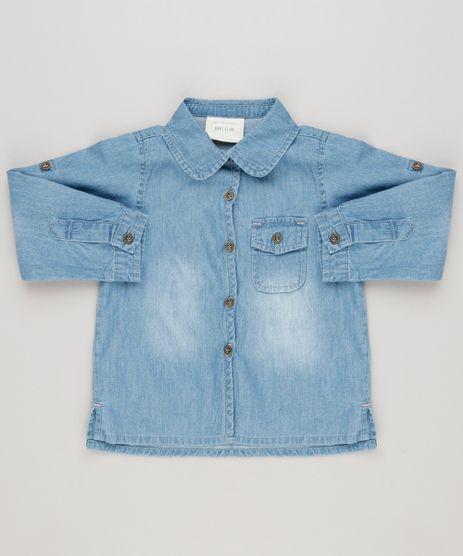 Camisa-Jeans-Infantil-com-Bolso-Manga-Longa-Azul-Claro-9158426-Azul_Claro_1