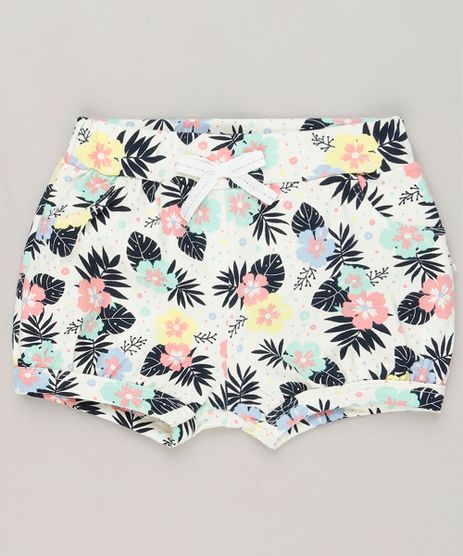 Short-Infantil-Balone-Estampado-Floral-em-Algodao---Sustentavel-Off-White-9230725-Off_White_1