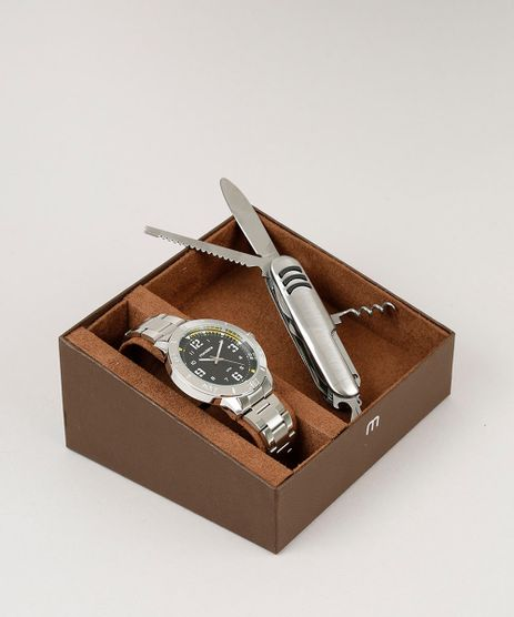 Kit-de-Relogio-Analogico-Mondaine-Masculino---Canivete---99350G0MVNE4K-Prateado-9252064-Prateado_1