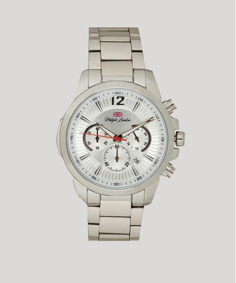 eff8306fd57 Relógio Cronógrafo Philiph London Masculino - PL80032623M Prateado - cea