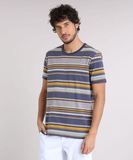 Camiseta-Masculina-Listrada-Manga-Curta-Gola-Careca-Azul-Marinho-9187319-Azul_Marinho_1