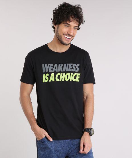 Camiseta-Masculina-Esportiva-Ace--Weakness-is-a-Choice--Manga-Curta-Gola-Careca-Preta-9190239-Preto_1