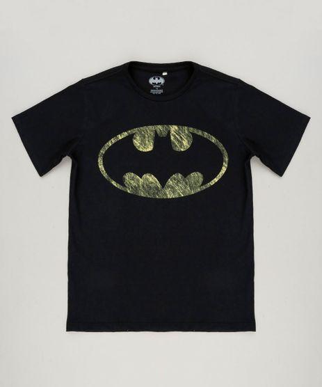 Camiseta-Infantil-Batman-Manga-Curta-Gola-Careca-em-Algodao---Sustentavel-Preta-9232083-Preto_1
