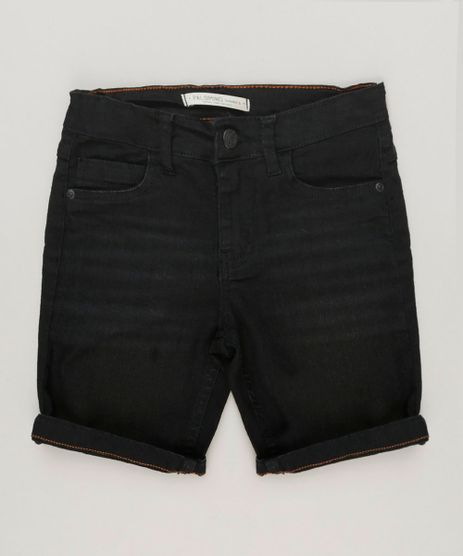 Bermuda-Jeans-Infantil-Reta-Preta-9239089-Preto_1