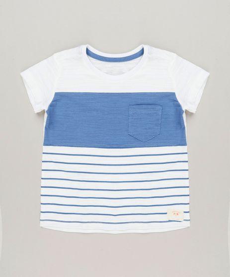 Camiseta-Infantil-com-Listras-e-Bolso-Manga-Curta-Gola-Careca-Off-White-9224566-Off_White_1