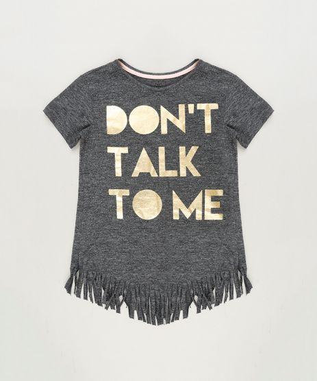 Blusa-Infantil--Don-t-Talk-To-Me--com-Franjas-Manga-Curta-Decote-Redondo-Cinza-Mescla-Escuro-9220312-Cinza_Mescla_Escuro_1