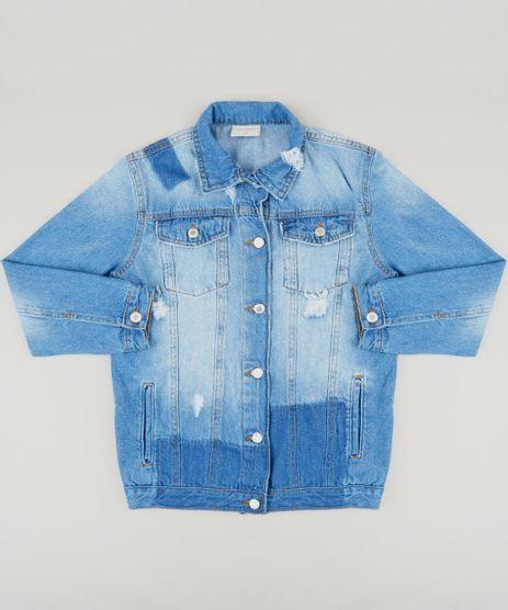 Jaqueta-Jeans-Infantil-com-Bolsos-e-Puidos-Azul-Claro-9217173-Azul_Claro_1