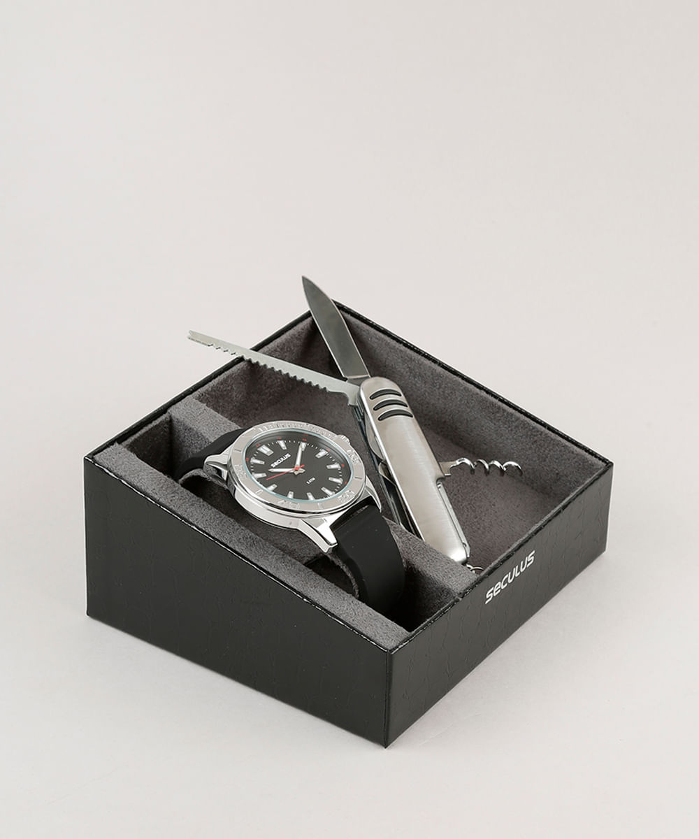 eff43431555 ... Kit-de-Relogio-Analogico-Seculus-Masculino---Canivete-