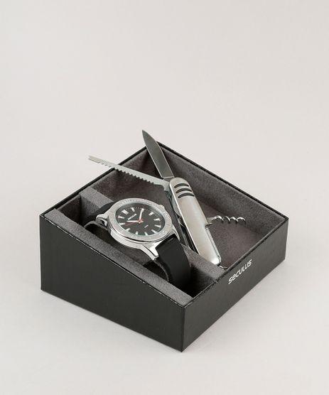 Kit-de-Relogio-Analogico-Seculus-Masculino---Canivete---23611G0SVNI1KA-Preto-9252320-Preto_1