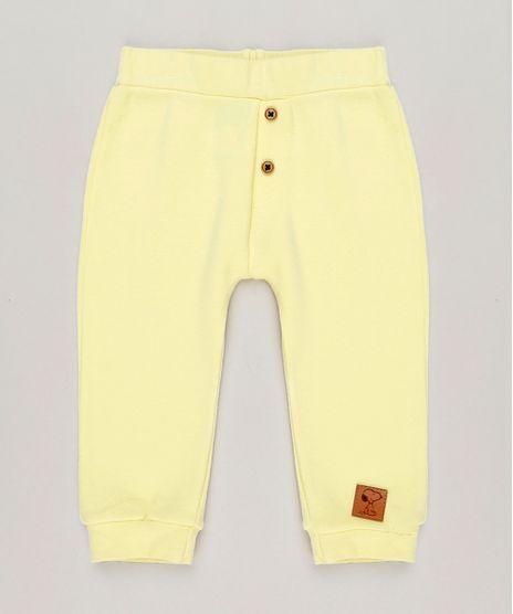 Calca-Infantil-Snoopy-com-Botoes-Amarelo-Claro-9242528-Amarelo_Claro_1