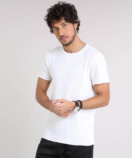 Camiseta-Masculina-Slim-Fit-em-Piquet-Manga-Curta-Gola-Careca-Off-White-9209210-Off_White_1