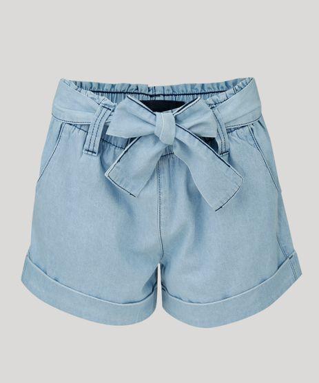 Short-Jeans-Feminino-Clochard-Cintura-Alta-com-Faixa-de-Amarrar-Azul-Claro-9296969-Azul_Claro_2