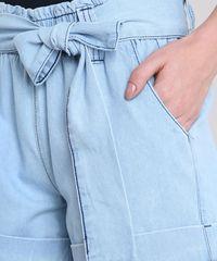 7f888efdc ... Short-Jeans-Feminino-Clochard-Cintura-Alta-com-Faixa-. Short Jeans  Feminino Mindset Clochard Cintura Alta com Cinto Azul Claro