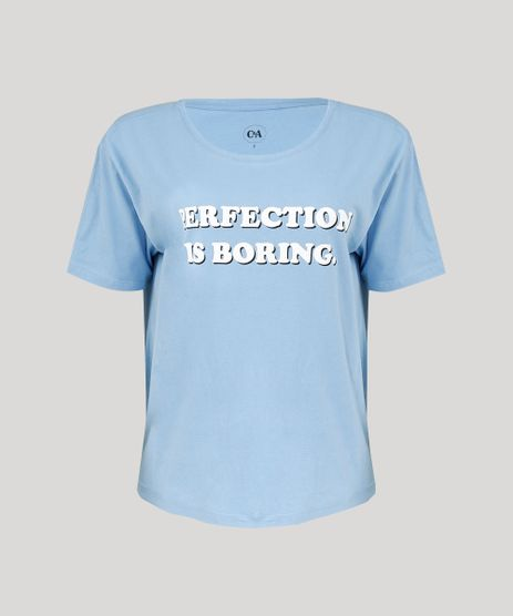 T-shirt-Feminina-Manga-Curta--Perfection-is-Boring---Azul-Claro-9293760-Azul_Claro_2