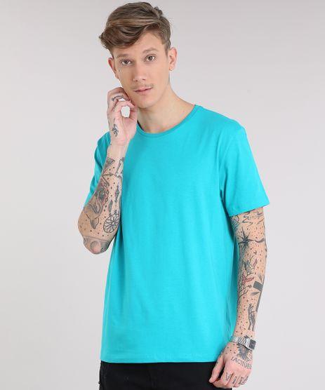 Camiseta-Masculina-Basica-Manga-Curta-Gola-Careca-Verde-8472787-Verde_1