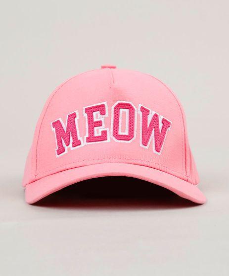 Bone-Infantil--Meow--Aba-Curva-Rosa-9130416-Rosa_1