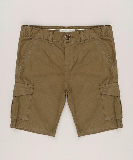 Bermuda-Infantil-Cargo-com-Bolsos-Verde-Militar-9042778-Verde_Militar_1