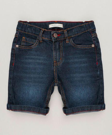 Bermuda-Jeans-Infantil-Reta-Azul-Escuro-9239088-Azul_Escuro_1