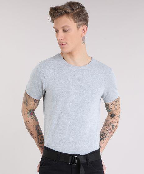 Camiseta-Masculina-Basica-Manga-Curta-Gola-Careca-em-Algodao---Sustentavel-Cinza-Mescla-9209153-Cinza_Mescla_1