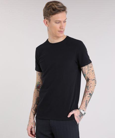 Camiseta-Masculina-Basica-Manga-Curta-Gola-Careca-em-Algodao---Sustentavel-Preta-9209153-Preto_1