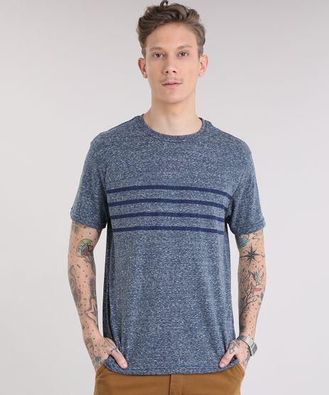 Camiseta-Masculina-Mescla-com-Listras-Manga-Curta-Gola-Careca-Azul-9228396-Azul_1