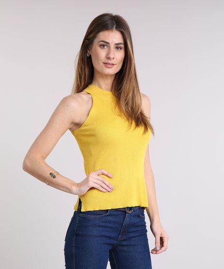 Regata-Feminina-Halter-Neck-em-Trico-Amarela-9169695-Amarelo_1