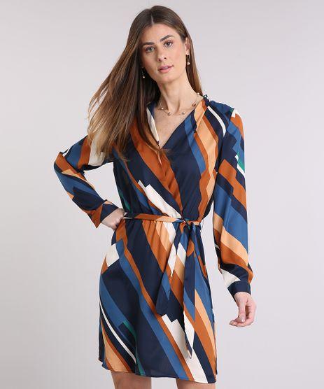 Vestido-Feminino-Listrado-Transpassado-Curto-Manga-Longa-Decote-V-Azul-Marinho-9082861-Azul_Marinho_1