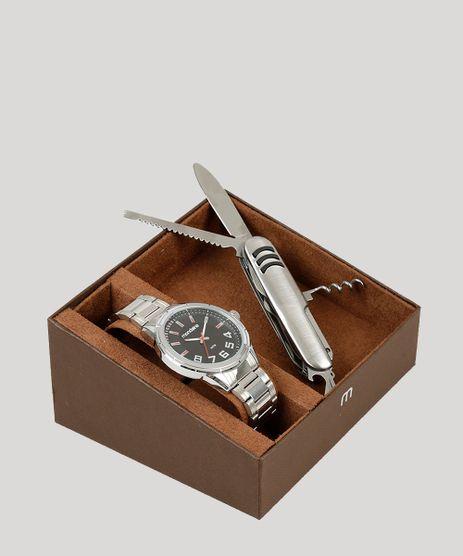 Kit-de-Relogio-Analogico-Mondaine-Masculino---Canivete---83451G0MVNE1K-Prateado-9252082-Prateado_1