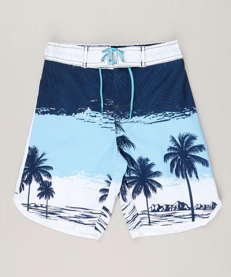 Bermuda-Surf-Infantil-com-Cordao-Estampada-de-Coqueiros-Branco-9192190-Branco_1
