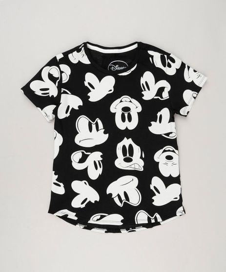 Blusa-Infantil-Estampada-Mickey-Mouse-Manga-Curta-Decote-Redondo-em-Algodao---Sustentavel-Preta-9220308-Preto_1
