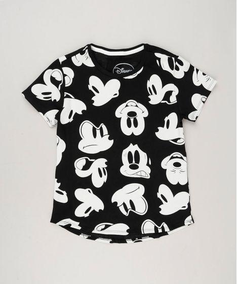 e0b4fc12f Blusa Infantil Estampada Mickey Mouse Manga Curta Decote Redondo ...