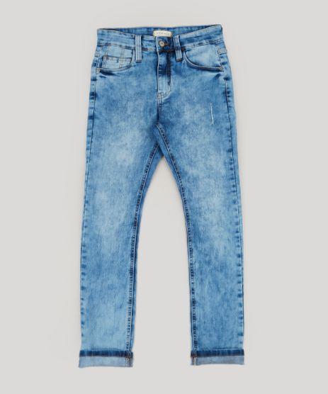 Calca-Jeans-Infantil-Slim-com-Bolsos-Azul-Medio-9239950-Azul_Medio_1