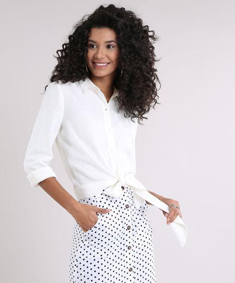 Camisa-Feminina-em-Linho-Cropped-com-Laco-Manga-Longa-Off-White-9089430-Off_White_1