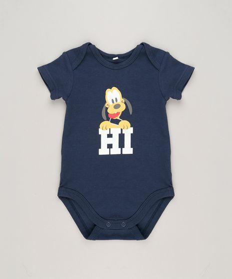 Body-Infantil-Pluto-Manga-Curta-Gola-Careca-em-Algodao---Sustentavel-Azul-Marinho-9124807-Azul_Marinho_1