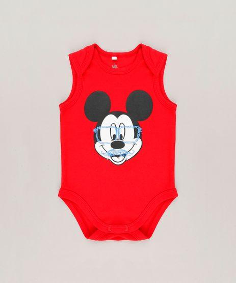 Body-Infantil-Mickey-Sem-Manga-Gola-Careca-em-Algodao---Sustentavel-Vermelho-9124814-Vermelho_1