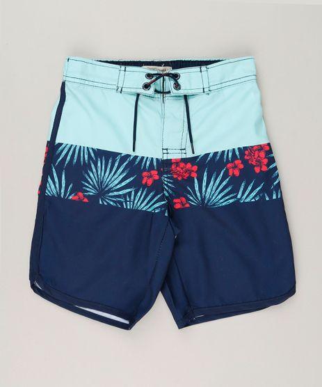 Bermuda-Surf-Infantil-com-Cordao-Estampada-Floral-Azul-Marinho-9191137-Azul_Marinho_1