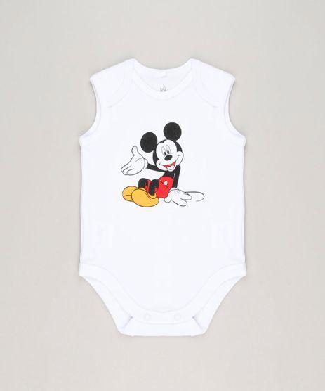 Body-Infantil-Mickey-Sem-Manga-Gola-Careca-em-Algodao---Sustentavel-Branco-9124816-Branco_1