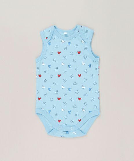 Body-Infantil-Estampado-do-Mickey-Sem-Manga-Gola-Careca-em-Algodao---Sustentavel-Azul-Claro-9124823-Azul_Claro_1
