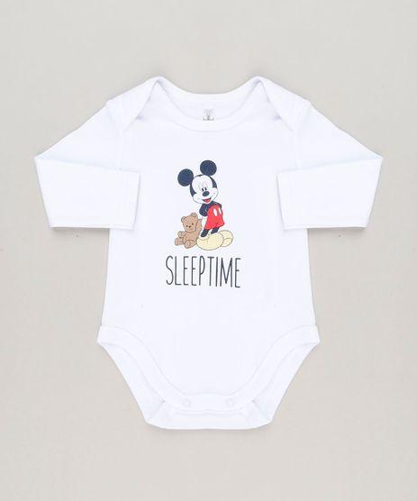 Body-Infantil-Mickey--Sleep-Time--Manga-Longa-Gola-Careca-em-Algodao---Sustentavel-Branco-9124365-Branco_1