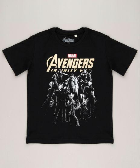 Camiseta-Infantil-Os-Vingadores-Manga-Curta-Gola-Careca-em-Algodao---Sustentavel-Preta-9265131-Preto_1